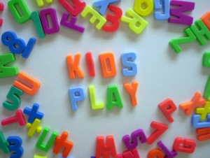 Playgroup letters spelling kids play